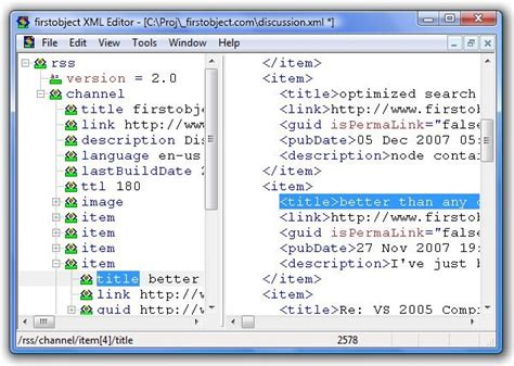 Xmlspy Format Html | firstobject xml editor alternatives and similar software