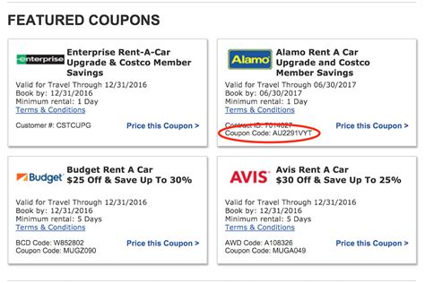 enterprise rental coupons
