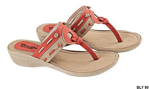sandal perempuan dewasa pu pvc sol tpr coklat orange gudang fashion wanita