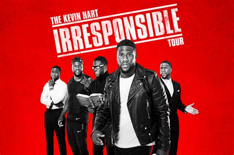 kevin hart irresponsible tour 2018 hot tickets eminem method man kevin hart ed sheeran on