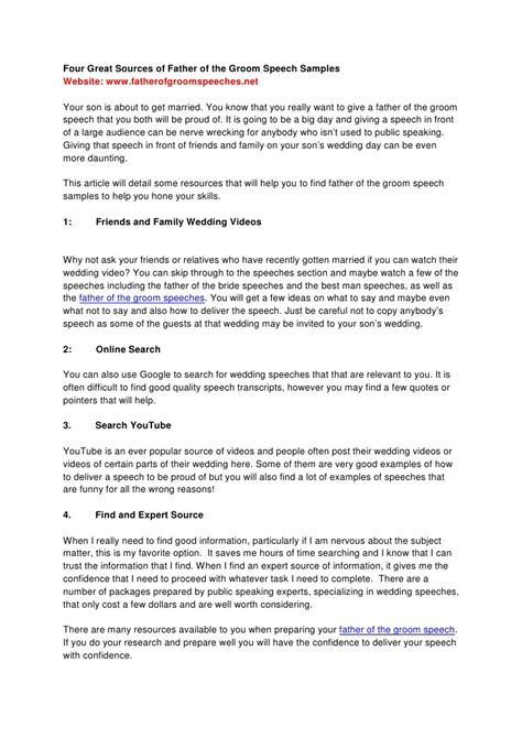 template of grooms speech of the groom speeches sles