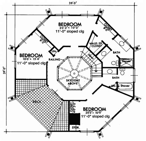 octagon shaped house plans beach style house plans 1864 square foot home 2 story 4 bedroom and 2 bath