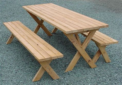 picnic table detached bench plans easy project