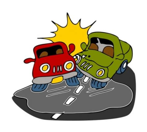 cartoon car crash car accident cartoon clipart best