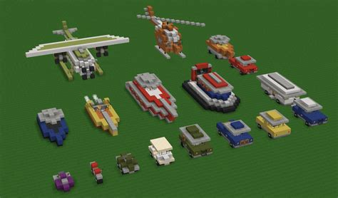 minecraft car design breakc0re s transportation pack schematics included