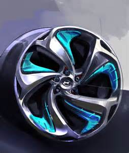 Car Tires Rims Hyundai I Flow Concept Wheel Design Sketch Car