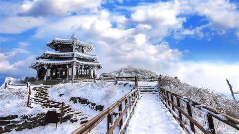 imagenes de invierno reales paisaje nevado en el parque nacional deogyusan corea del sur