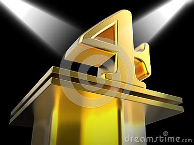 pedestal you meaning golden four on pedestal means movie awards or stock