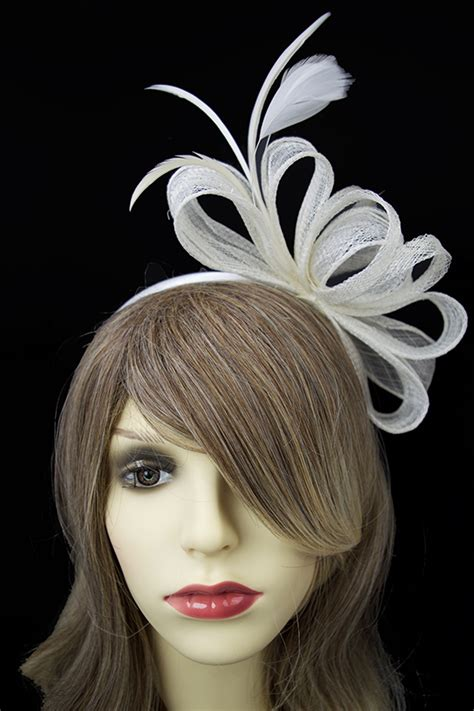 7 Pretty Fascinators by Pretty Ivory Layered Bow Hairband Fascinator Ivory Bow