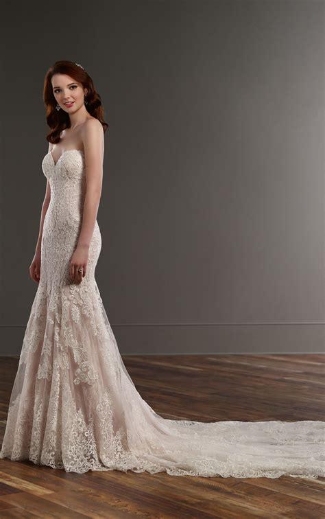 strapless fit  flare wedding dress martina liana