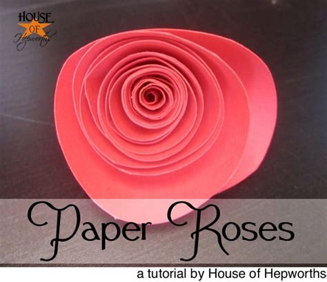 Roses Out Of Paper - how to make paper roses