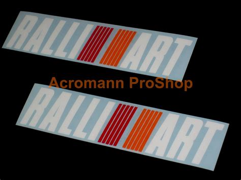 mitsubishi ralliart stickers acromann online shop