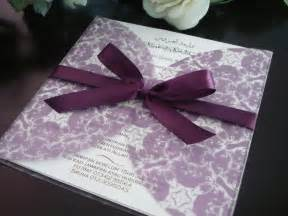 wedding invitations purple wedding invitations