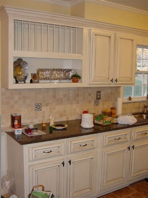 antique cream kitchen cabinets kitchen cream with antique brown glaze design pictures