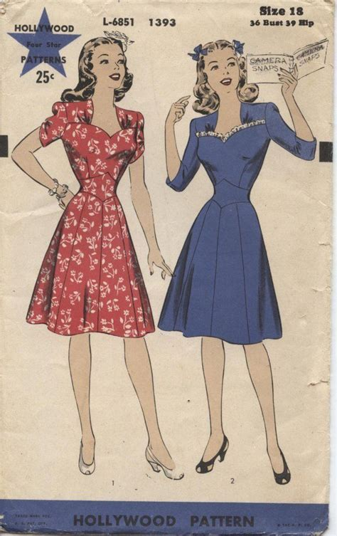 Dress D 1393 92 best images about vintage patterns on