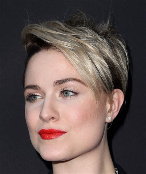 emo hairstyles front and back view evan rachel wood short straight alternative pixie