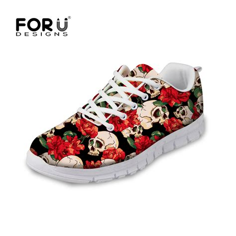 design flat shoes forudesigns fashion skull design flat shoes high