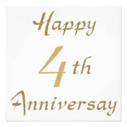 4th wedding anniversary cards invitations photocards more