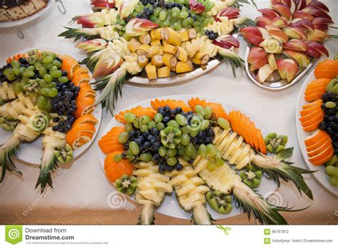 Healthy Fruit Table At Wedding Reception Catering Pineapple Buffet L