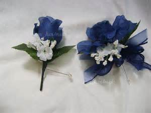 navy blue open pin corsage boutonniere wedding prom ouinceanera
