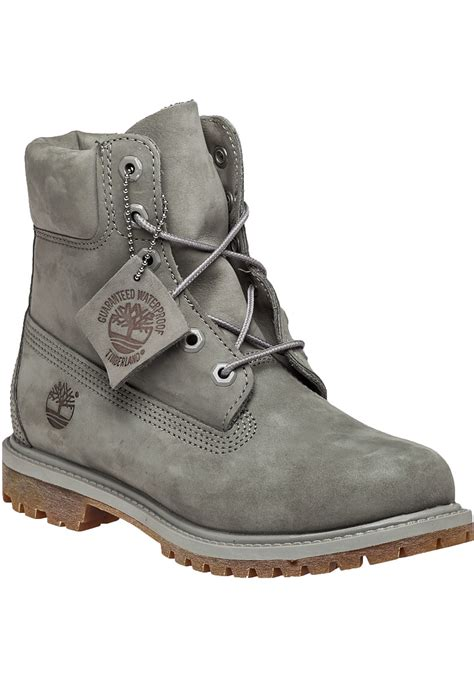 timberland gray boat shoes timberland premium 6 inch nubuck boots in gray lyst