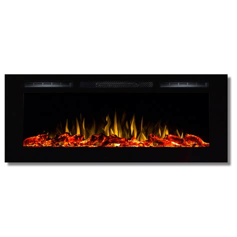 Recessed Electric Fireplace Fusion 50 Inch Built In Ventless Heater Recessed Wall Mounted Electric Fireplace Log