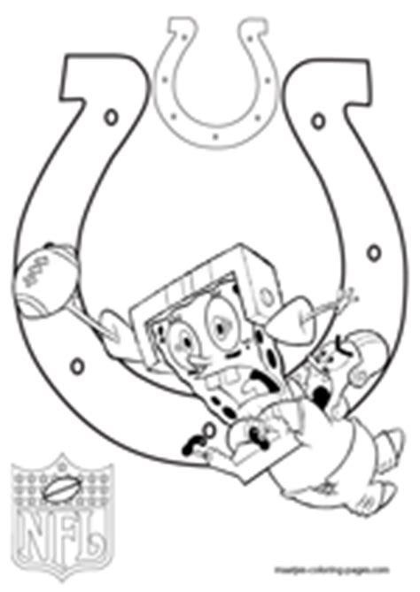 spongebob nfl coloring pages indianapolis colts coloring pages