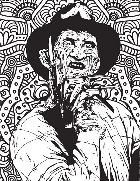 Horror Movies Printable Coloring Pages Costume Where To Buy Horror Coloring Books