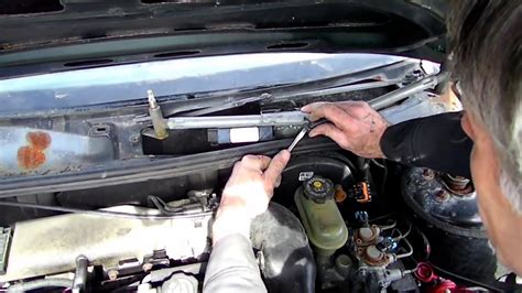 repair windshield wipe control 2002 oldsmobile aurora parking system windshield wiper motor removal youtube