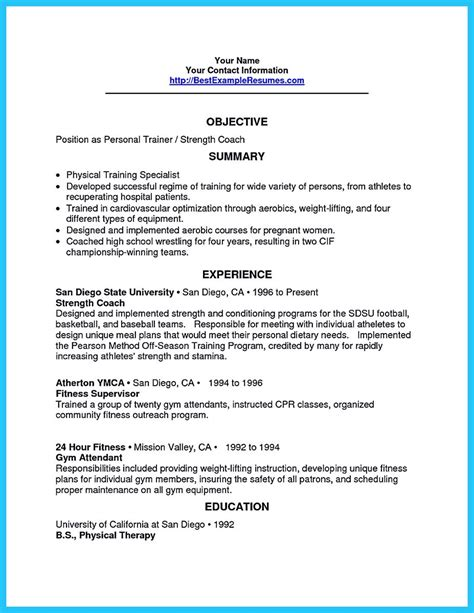 writing your athletic resume carefully