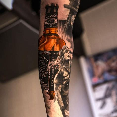 motley crue tattoos arm bottle mr