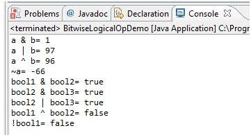 java pattern or operator java logical operators w3resource