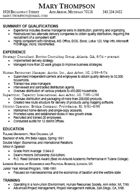 Job Resume Examples With Experience by Resume Types And Samples