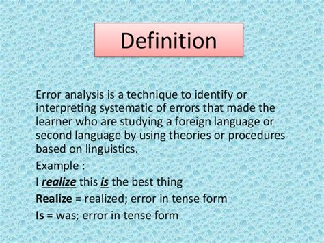 historic meaning definition and history of error analysis