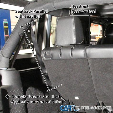 jeep jk rear seat recline 07 16 jeep wrangler jk 4 door black rear seat recline