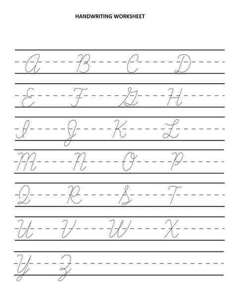 search results for cursive handwriting worksheet template