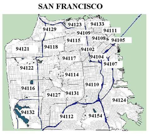 san francisco map with zip codes san francisco ca zip code map michigan map
