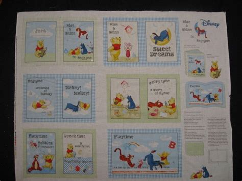 Selimut Soft Panel Winnie The Pooh winnie the pooh tigger piglet quot rise and shine quot baby soft book fabric panel