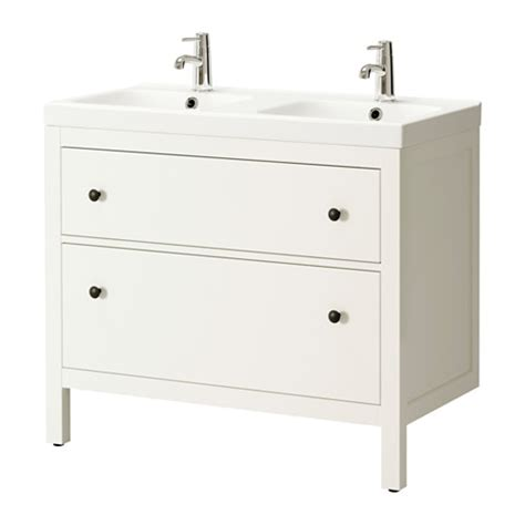 ikea double vanity hemnes odensvik sink cabinet with 2 drawers white ikea