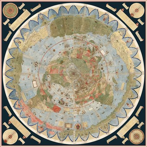 Plan Collection by David Rumsey Historical Map Collection Largest Early World Map Monte S 10 Ft Planisphere Of