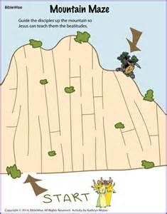 mountain maze beatitudes kids korner biblewise