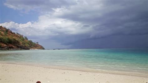 storm clouds  tropical island traditional komodo