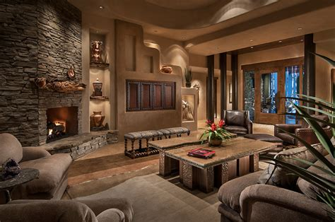 southwest contemporary southwestern living room
