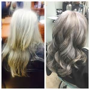 pictures of grey hair with lowlights pinterest the world s catalog of ideas