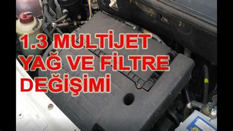 fiat doblo  multijet motor yag ve filtre degisimi youtube