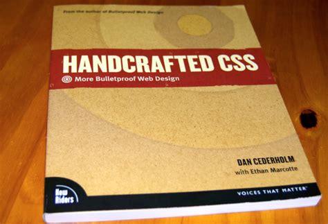 Handcrafted Css - cr 237 tica libro handcrafted css de dan cederholm por