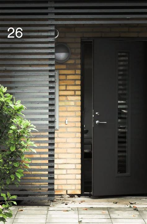 Black Contemporary Front Door Simple Renovation Ideas To Transform A Charmless Brick Home