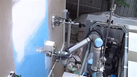 robotic wall climbing robot cleans and paints high rise buildings the