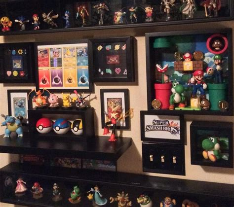 n64 room nintendo amiibo smash wall via reddit user splosion gaming and rooms