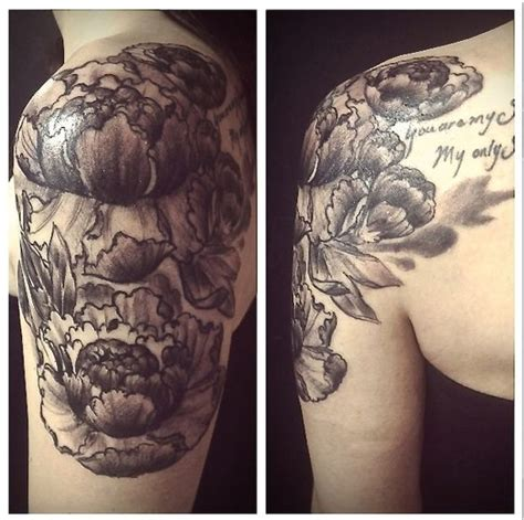 no regrets tattoo memphis floral peonies quarter sleeve done by joe st at no